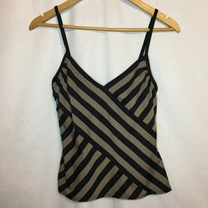 🍁 DKNY Striped Bathing Suit Top